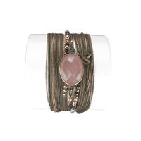 Bracelet Diva Quartz Rose