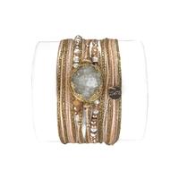 Bracelet Diva Druzy Blanc