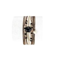 Bracelet Hexagone Noir