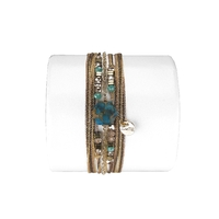 Bracelet Hexagone Copper Turquoise
