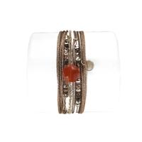 Bracelet Hexagone Cornaline