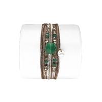 Bracelet Hexagone Quartz Vert