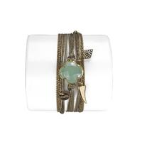 Bracelet Trèfle Calcedoine