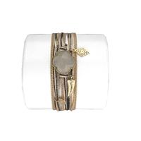 Bracelet Trèfle Pierre de Lune Blanche