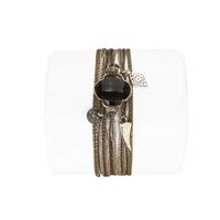 Bracelet Trèfle Quartz Fumé