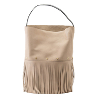 Sac Racer Bucket Fringes Beige