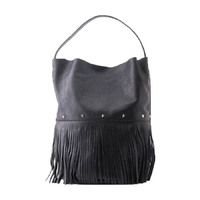 Sac Racer Bucket Fringes Black Noir
