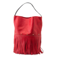 Sac Racer Bucket Fringes Red Rouge