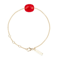 Bracelet Friandise Coussin Or jaune Quartz Rouge
