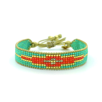 Bracelet Golden Caraibes Turquoise et Corail 2