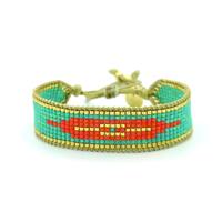 Bracelet Golden Caraibes Turquoise et Corail 3