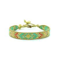 Bracelet Golden Caraibes Turquoise et Corail 6
