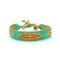 Bracelet Golden Caraibes Turquoise et Corail 4