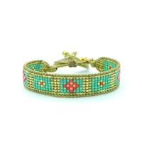 Bracelet Golden Caraibes Turquoise et Corail 5