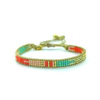 Bracelet Golden Caraibes Turquoise et Corail 10