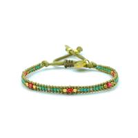 Bracelet Golden Caraibes Turquoise et Corail 11