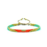 Bracelet Golden Caraibes Turquoise et Corail 12