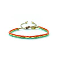 Bracelet Golden Caraibes Turquoise et Corail 13