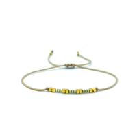 Bracelet Golden Caraibes Fin Yellow