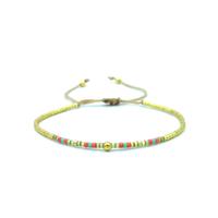 Bracelet Golden Caraibes Turquoise, Corail et Jaune