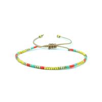Bracelet Golden Caraibes Fin Turquoise, Corail et Jaune