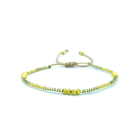 Bracelet Golden Caraibes Jaune et Doré