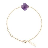 Bracelet Friandise Trèfle Or jaune Améthyste