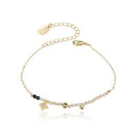 Bracelet Perles Nacre Chaine Or
