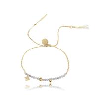 Bracelet Perles Gris