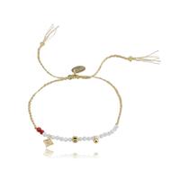Bracelet Perles Blanc et Rouge