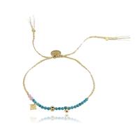 Bracelet Perles Bleu et Rose