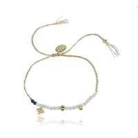 Bracelet Perles Blanc et Vert