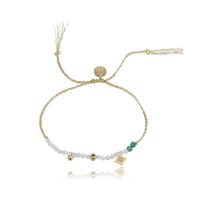 Bracelet Perles Blanc et Turquoise