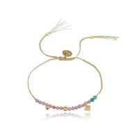 Bracelet Perles Rose et Turquoise