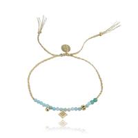 Bracelet Perles Bleu Ciel