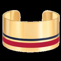 Bracelet Manchette Castelane Rouge Velours Or