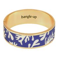 Bracelet Neptune Bleu Clematis et Blanc Sable Or