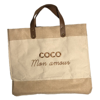Sac Cabas Le Mademoiselle, Coco Mon Amour, Broderie Or