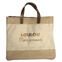 Sac Cabas Le Mademoiselle, Loulou Mon Amour, Broderie Or