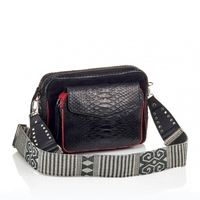 Sac Python Big Charly Noir Color Zip Bandoulière