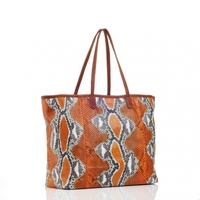 Sac Cabas Python Marny Orange Painted