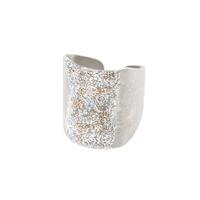Bague Eclat XL Email Diamanté Argent Blanc