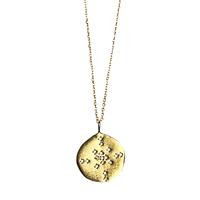 Collier Sautoir Médaille Cristaux Comète Or