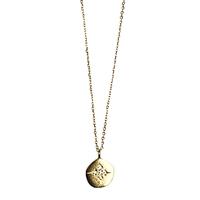 Collier Médaille Cristaux Etoile Or