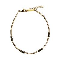 Bracelet Perles Or et Noir