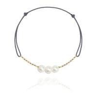 Bracelet 3 Perles Or