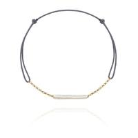 Bracelet Perles Baroque Or