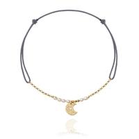 Bracelet Perle Lune Or
