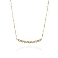 Collier Barrette Perles d'Eau Or