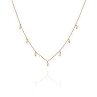 Collier Pampilles Perles Or